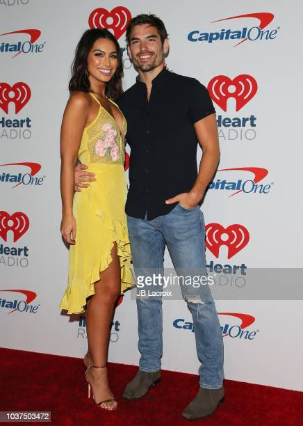 Ashley Iaconetti and Jared Haibon attend the 2018 iHeartRadio Music Festival at TMobile Arena on September 21 2018 in Las Vegas Nevada