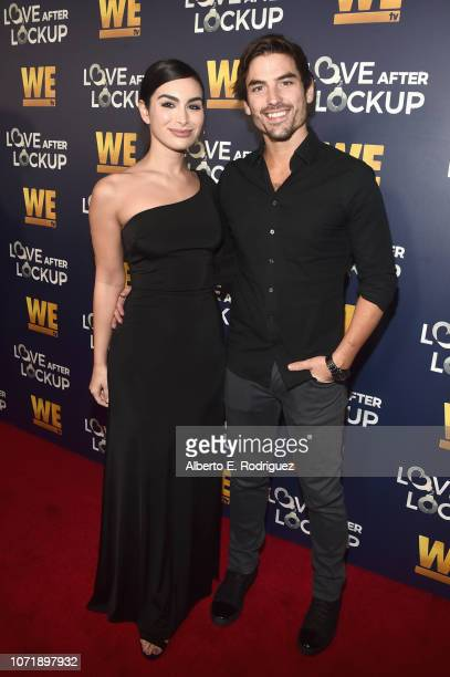 Ashley Iaconetti and Jared Haibon attend WE tv celebrates the return of Love After Lockup with panel Real Love Relationship Reality TV's Past Present...