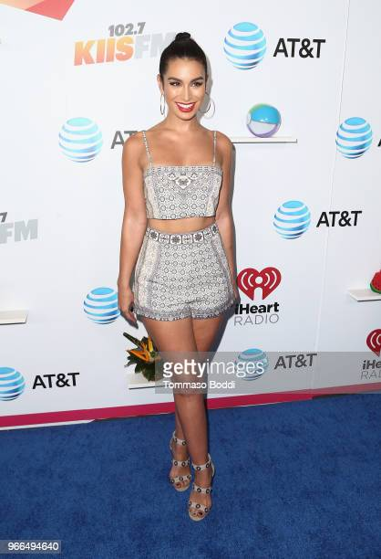 Ashley Iaconetti arrives at the 2018 iHeartRadio Wango Tango by ATT at Banc of California Stadium on June 2 2018 in Los Angeles California