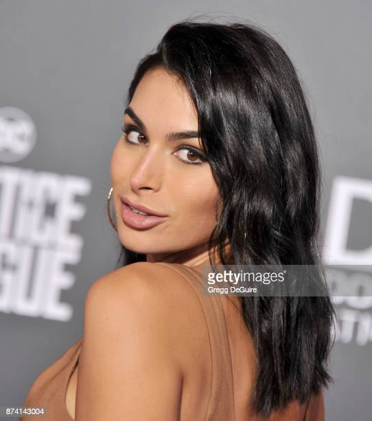 Ashley Iaconetti arrives at the premiere of Warner Bros Pictures' Justice League at Dolby Theatre on November 13 2017 in Hollywood California
