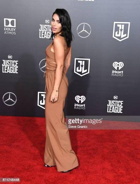 Ashley Iaconetti arrives at the Premiere Of Warner Bros Pictures' 'Justice League' at Dolby Theatre on November 13 2017 in Hollywood California