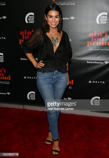 Ashley Iaconetti attends the Opening Night of 'Ain't Too Proud The Life And Times Of The Temptations' at the Ahmanson Theatre on August 24 2018 in...