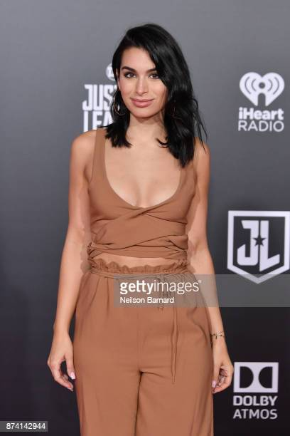 Ashley Iaconetti attends the premiere of Warner Bros Pictures 'Justice League' at the Dolby Theatre on November 13 2017 in Hollywood California