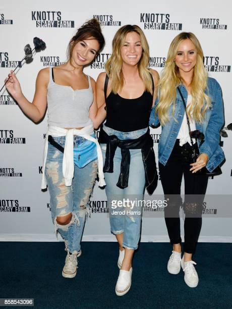 Ashley Iaconetti Becca Tilley and Amanda Stanton visit Knott's Scary Farm at Knott's Berry Farm on October 6 2017 in Buena Park California