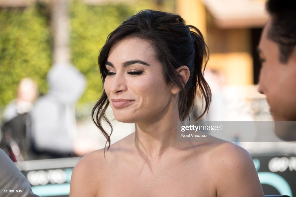 Ashley Iaconetti, Jordan Mauger And Tameka Cottle Visit 'Extra' : News Photo