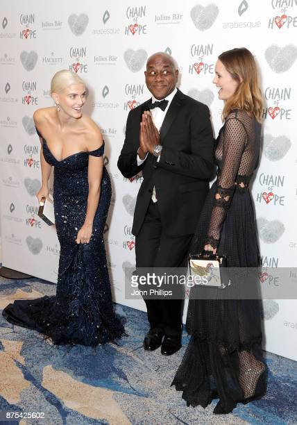 Ashley James Ainsley Harriott and Charlotte de Carle arriving at the Chain Of Hope Gala Ball held at Grosvenor House on November 17 2017 in London...