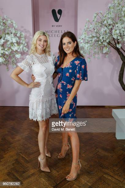 Ashley James and Binky Felstead attend Michelle Keegan's first catwalk show for Verycouk at One Marylebone on April 24 2018 in London England