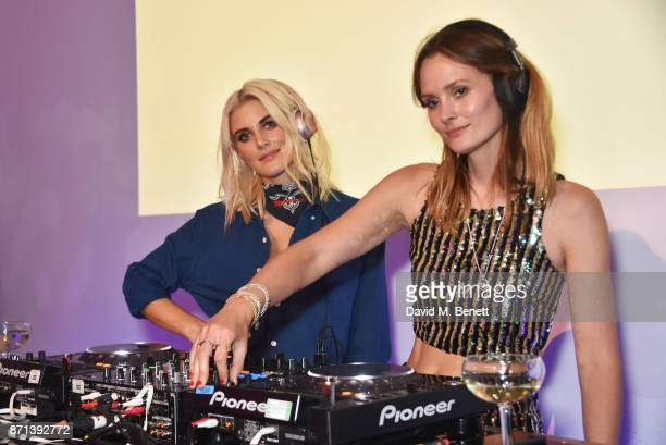Ashley James and Charlotte de Carle attend a party hosted by Gigi Hadid to launch her new limitededition Maybelline collection on November 7 2017 in...
