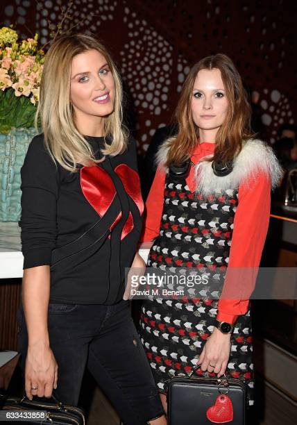 Ashley James and Charlotte De Carle attend the launch of new restaurant 'Aster' in Victoria's new Nova quarter on February 1 2017 in London England