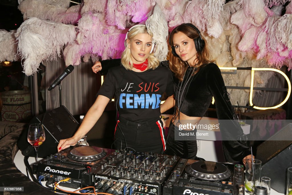 Ashley James (L) and Charlotte de Carle attend the Look Of The Day launch party in the Radio Rooftop Bar at the ME Hotel on August 16, 2017 in London, England.