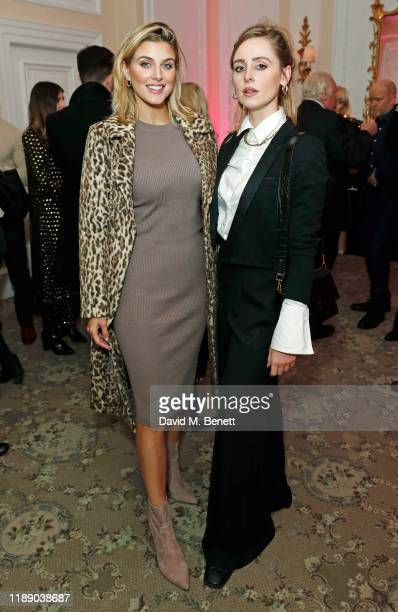 Ashley James and Diana Vickers attend the launch of Accor Hotels new 'Live Limitless' afternoon tea at The Savoy Hotel on December 16 2019 in London...