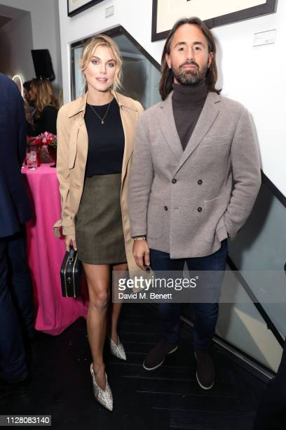 Ashley James and Jay Rutland attend the VIP private view of the 'Love And Other Crimes' exhibition at Maddox Gallery on February 07 2019 in London...