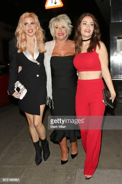 Ashley James and Jess Impiazzi at The Playboy Club on February 22 2018 in London England