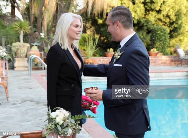 Ashley James and Nick Ede celebrate the wedding of Nick Ede and Andrew Naylor in Los Angeles at the private residence of Jonas Tahlin CEO of Absolut...