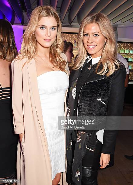 Ashley James and Nicki Shields attend a cocktail party hosted by haircare brand John Frieda to celebrate the launch of their 2015 products at Oxo...
