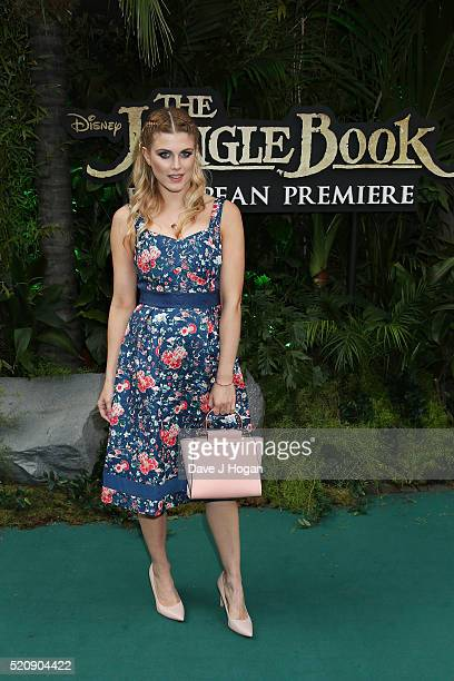 "AShley James arrives for the European premiere of ""The Jungle Book"" at BFI IMAX on April 13, 2016 in London, England."