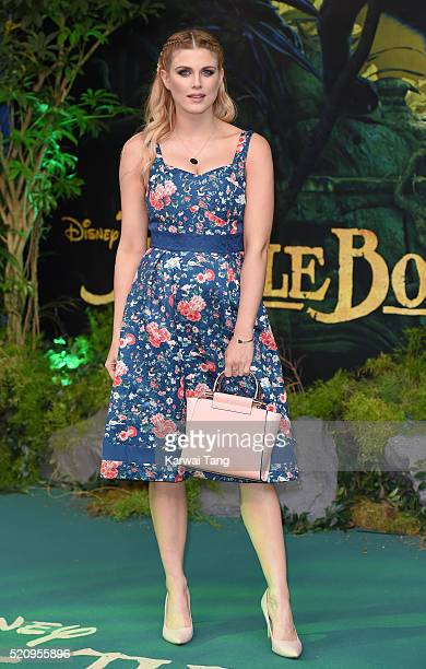 Ashley James arrives for the European premiere of 'The Jungle Book' at BFI IMAX on April 13 2016 in London England