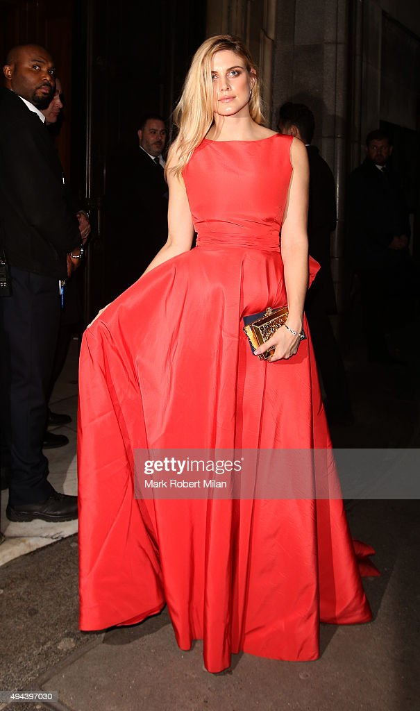 Ashley James attending the Spectre Premiere after party at the British Museum on October 26, 2015 in London, England.