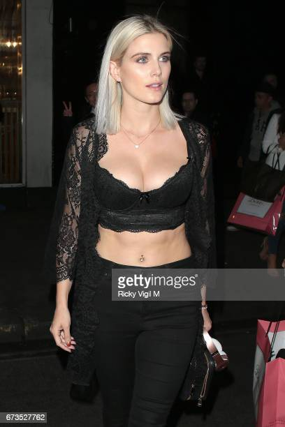 Ashley James attends Boux Avenue SS17 campaign launch party at Century Club on April 26 2017 in London England