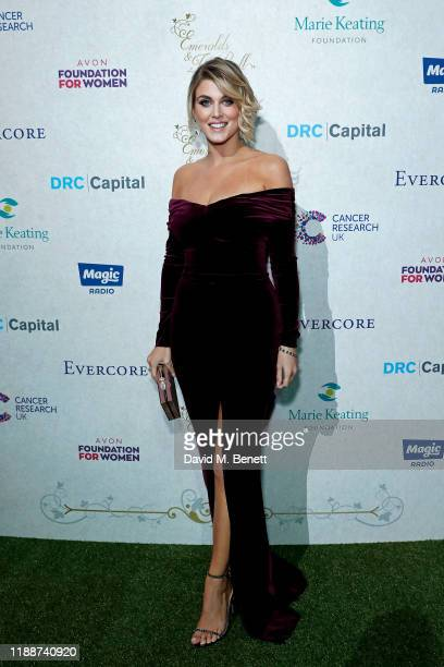Ashley James attends the 13th annual Emeralds Ivy Ball in partnership with Cancer Research UK and The Marie Keating Foundation at Old Billingsgate on...