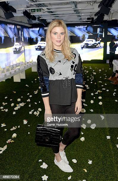 Ashley James attends the Asli Polat show during London Fashion Week Spring/Summer 2016/17 on September 19 2015 in London England