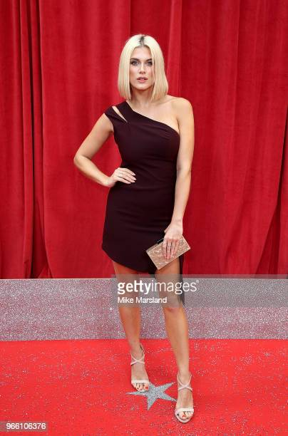 Ashley James attends the British Soap Awards 2018 at Hackney Empire on June 2 2018 in London England