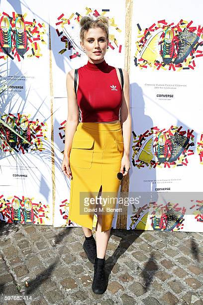 Ashley James attends the Converse party at Notting Hill Carnival to celebrate the new carnival inspired Converse Custom Chuck Taylor All Stars...