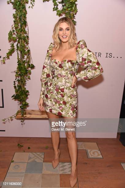 Ashley James attends the FEKKAI clean, vegan, sustainable haircare UK launch event on March 10, 2020 in London, England.