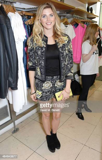 Ashley James attends the French Connection #CantHelpMySelfie launch party at French Connection Regent Street store on April 15 2014 in London England