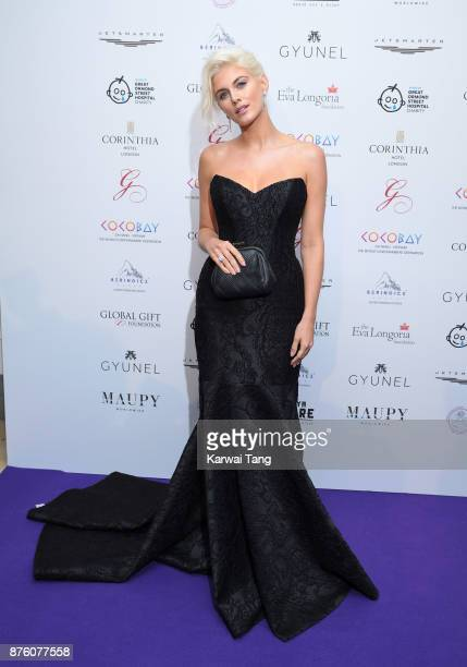 Ashley James attends The Global Gift gala held at the Corinthia Hotel on November 18 2017 in London England