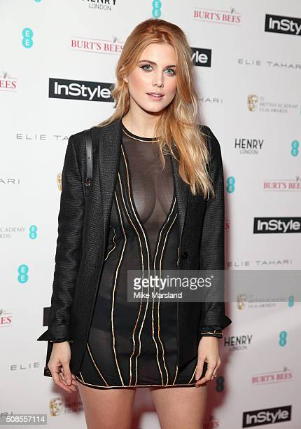 Ashley James attends the InStyle EE Rising Star PreBAFTA Party at 100 Wardour Street on February 4 2016 in London England