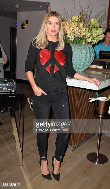 Ashley James attends the launch of new restaurant 'Aster' in Victoria's new Nova quarter on February 1 2017 in London England
