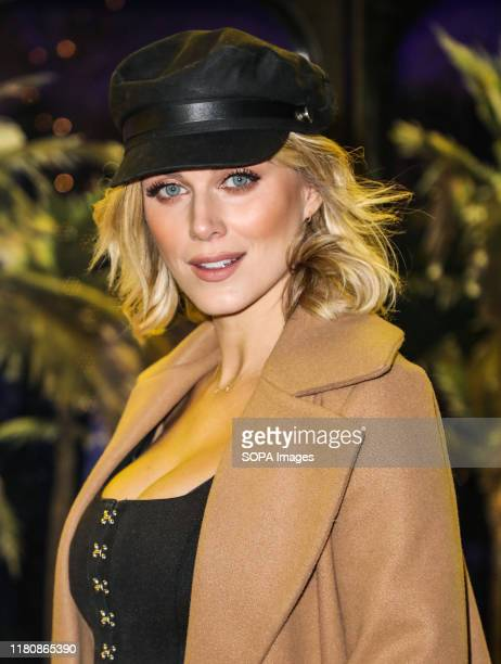 Ashley James attends the launch party for Gabby Allen's new collaboration with SportFX at the Tropicana Beach Club in London