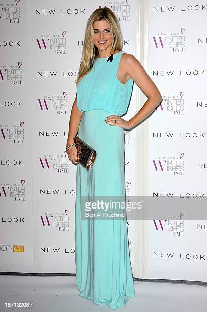 Ashley James attends the New Look Winter Wishes Charity Ball at Battersea Evolution on November 6 2013 in London England