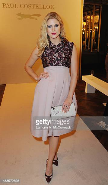 Ashley James attends the Paul Costelloe Presentation during London Fashion Week Spring/Summer 2016/17 on September 18 2015 in London England