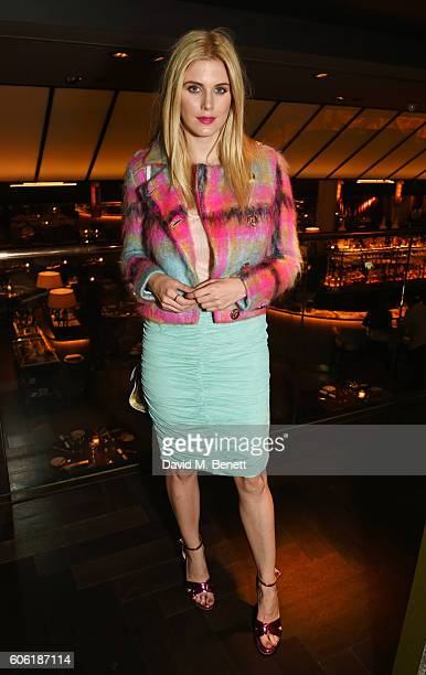 Ashley James attends the PPQ postshow after party during London Fashion Week Spring/Summer collections 2017 at Quaglino's on September 16 2016 in...