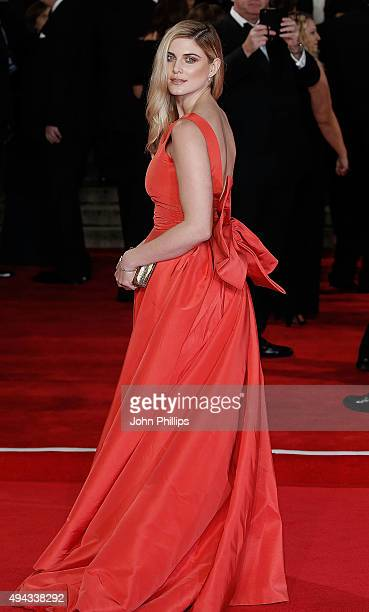 Ashley James attends the Royal Film Performance of 'Spectre'at Royal Albert Hall on October 26 2015 in London England