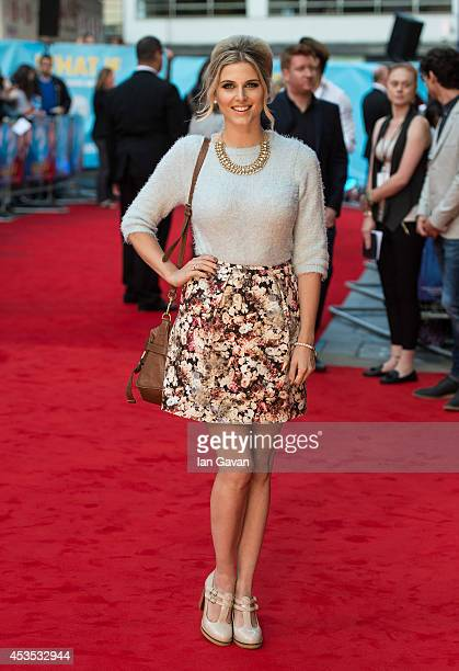 Ashley James attends the UK Premiere of 'What If' at Odeon West End on August 12 2014 in London England