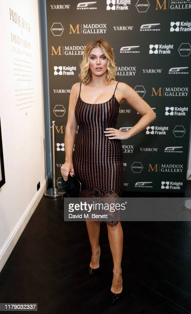 Ashley James attends the VIP launch event for 'Pride Rock by David Yarrow' at Maddox Gallery on October 04 2019 in London England