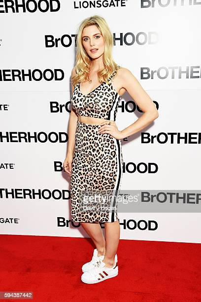 Ashley James attends the world premiere of 'BrOTHERHOOD' at Westfield London on August 23 2016 in London England