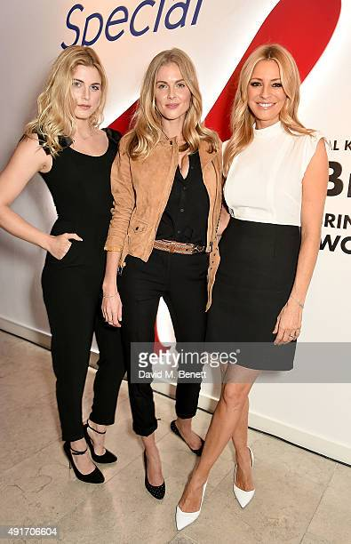 Ashley James Donna Air and Tess Daly attend the Special K Bring Colour Back launch at The Hospital Club on October 7 2015 in London England