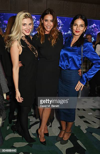 Ashley James Lisa Snowdon and Yasmin Mills attend the launch of Lisa Snowdon's Jewellery Collection exclusive to QVC at Sexy Fish on January 12 2016...