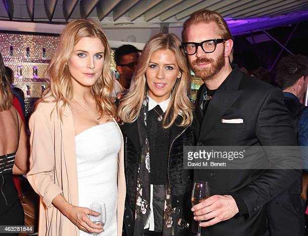 Ashley James Nicki Shields and Alistair Guy attend a cocktail party hosted by haircare brand John Frieda to celebrate the launch of their 2015...
