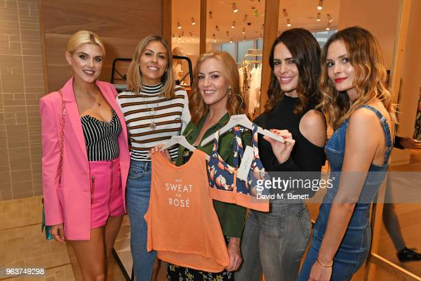 Ashley James Nicki Shields SarahJane Mee Susie Amy and Charlotte de Carle attend a VIP dinner hosted by Sweaty Betty to celebrate their new...