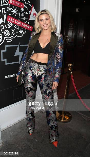 Ashley James seen attending Huawei X Mr Hyde 'A Phone' BreakUp Party on July 18 2018 in London England