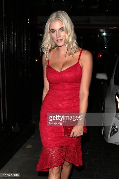 Ashley James seen attending Lipsy London VIP winter dinner held at Rosewood London on November 22 2017 in London England