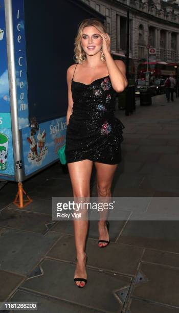 Ashley James seen attending Magnum Pleasure Store launch party on July 10 2019 in London England