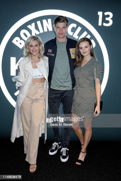 Ashley James Toby HuntingtonWhiteley and Niomi Smart attend KOBOX New Flagship studio launch party on King's Road on May 16 2019 in London England