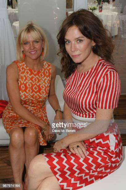 Ashley Jensen and Anna Friel attend the Audi Polo Challenge at Coworth Park Polo Club on June 30 2018 in Ascot England