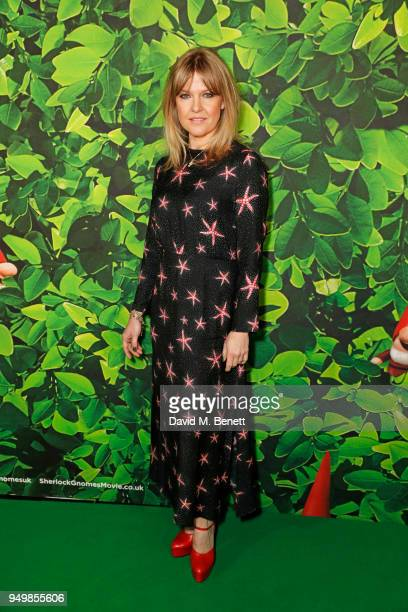 Ashley Jensen attends the Family Gala Screening of Sherlock Gnomes hosted by Sir Elton John and David Furnish at Cineworld Leicester Square on April...